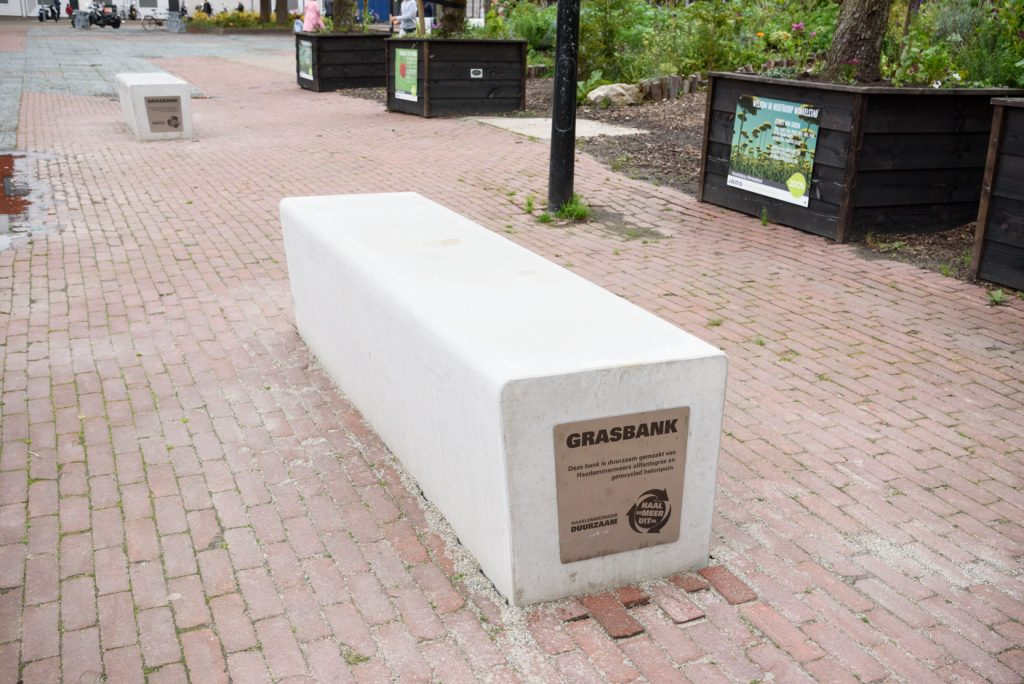 biobased betonnen bank