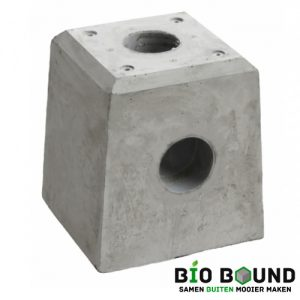 Betonpoer 28 hoog cm met hemelwaterafvoer biobased circulair