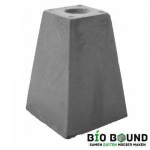Betonpoer 35 cm hoog met schroefhuls M16 biobased circulair