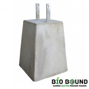 Betonpoer 40 cm hoog met 2 strippen biobased circulair