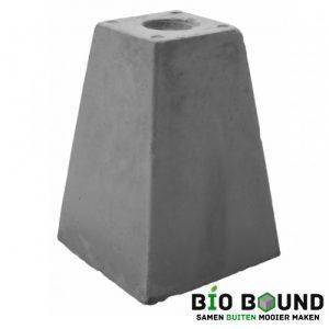 Betonpoer 40 cm hoog met schroefhuls M16 biobased circulair