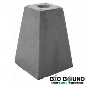 Betonpoer 45 cm hoog met schroefhuls M16 biobased circulair