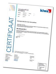 Bio Bound betonproducten KIWA gecertificeerd