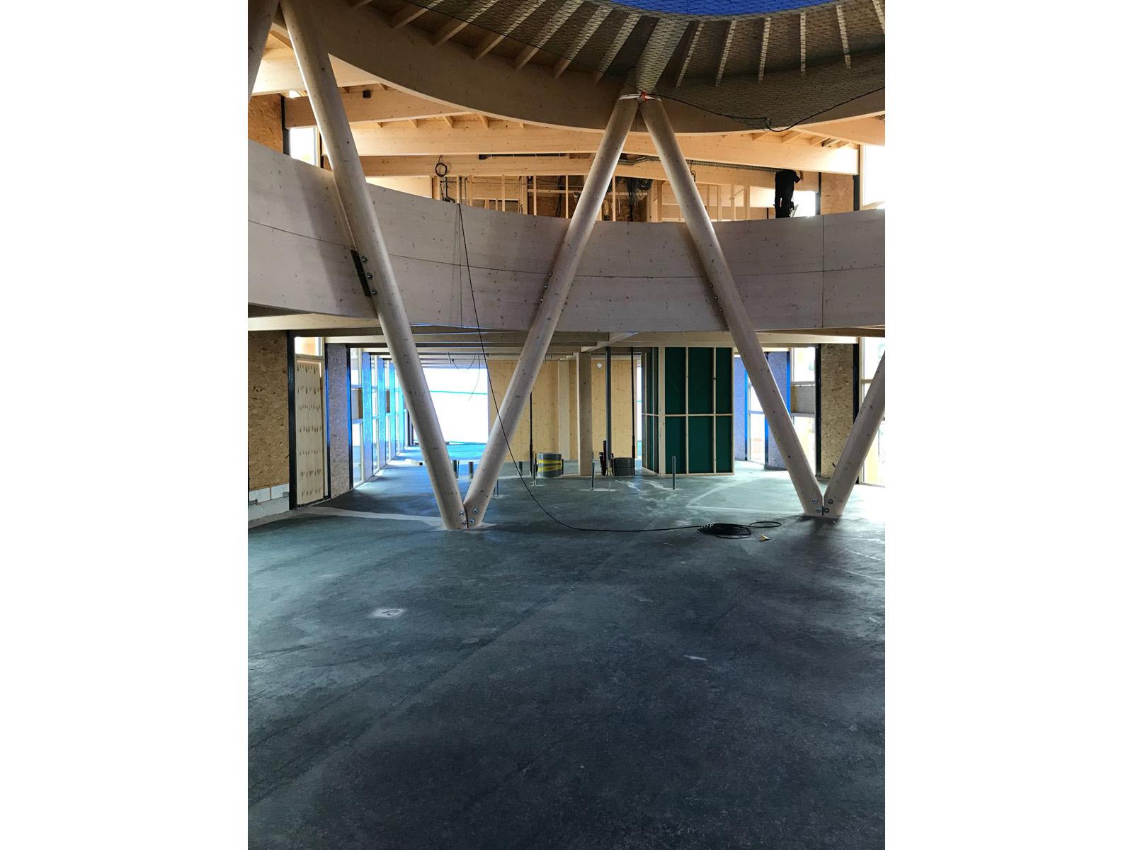 Bio based betonvloer gestort