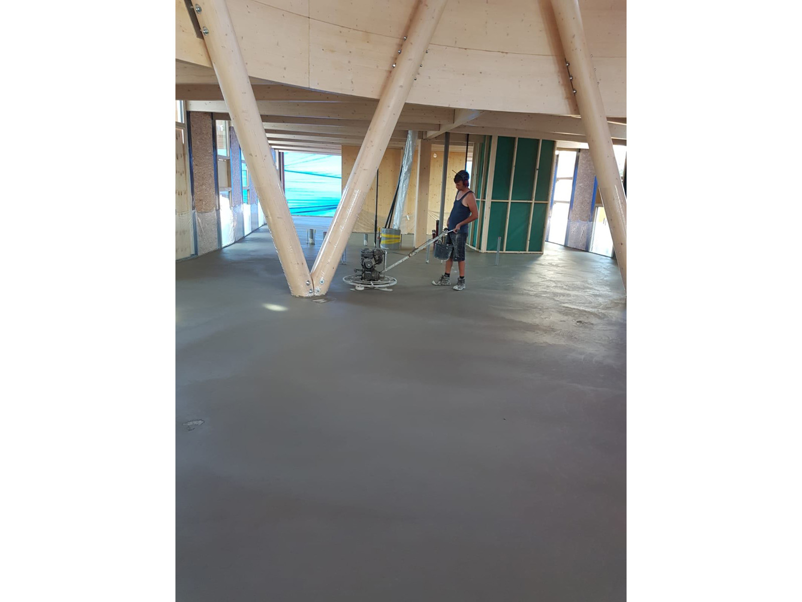 afwerken vloer biosintrum circuliar biobased beton