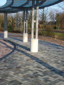 Circulaire, biobased betonstraatstenen