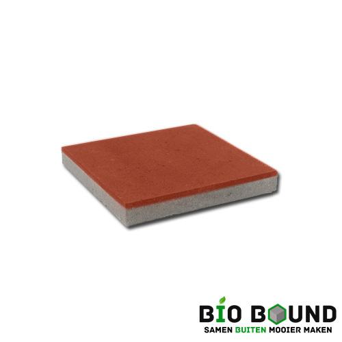 circulaire, biobased betontegel rood