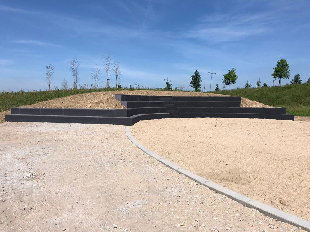 Circulaire, biobased betonelementen voor tribune Nijmegen