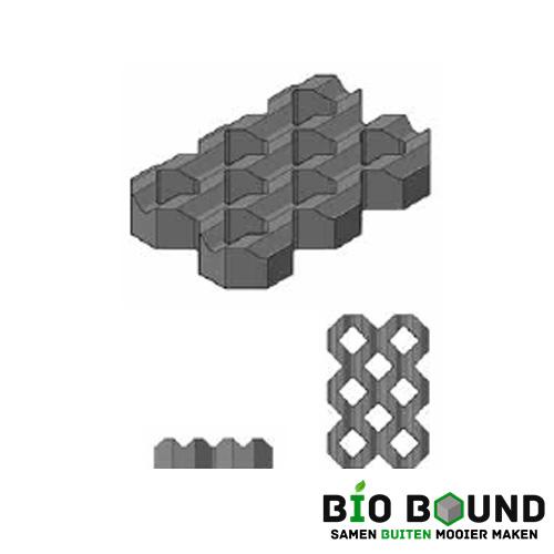 Circulaire, biobased grasbetontegel type A