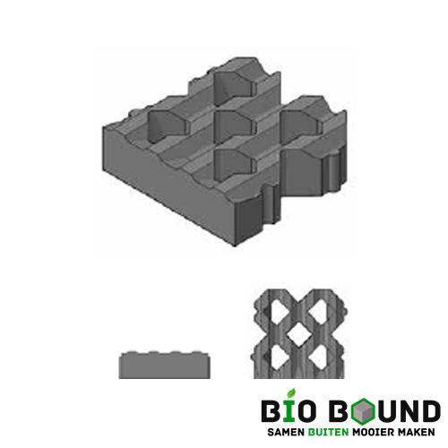 Circulaire, biobased grasbetontegel type C
