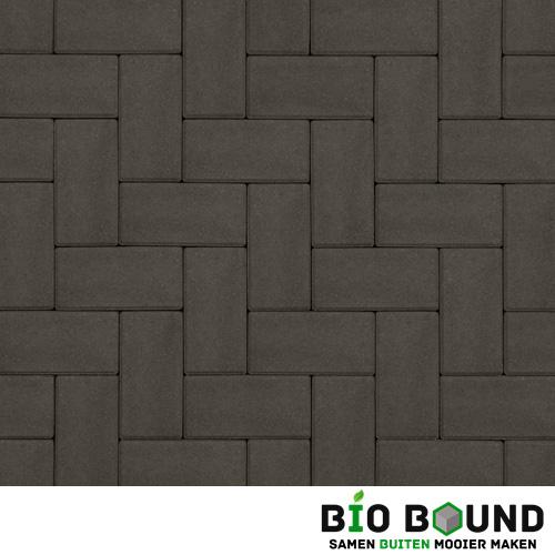 Circulaire biobased betonstraatsteen antraciet