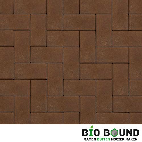 Circulaire biobased betonstraatsteen bruin