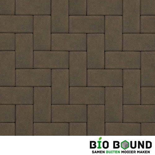 Circulaire biobased betonstraatsteen hardsteenkleur