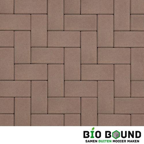 Circulaire biobased betonstraatsteen heidekleur