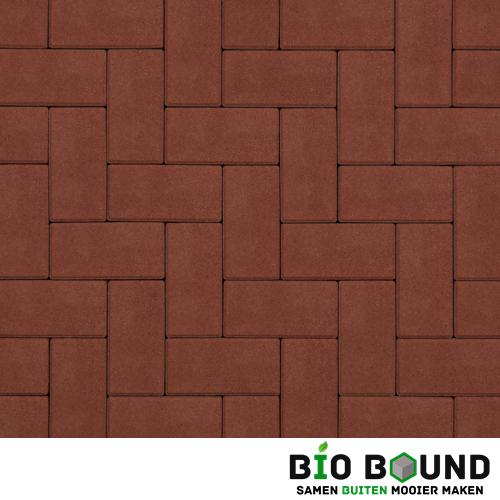 Circulaire biobased betonstraatsteen rood