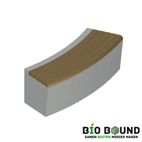 Elegance basis met zitting bocht biobased circulair beton