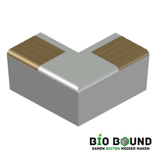 Elegance basis met zitting hoek biobased circulair beton