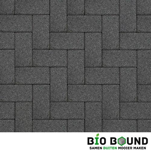 Circulaire biobased betonstraatsteen WGS basalt 3-5 glanskies