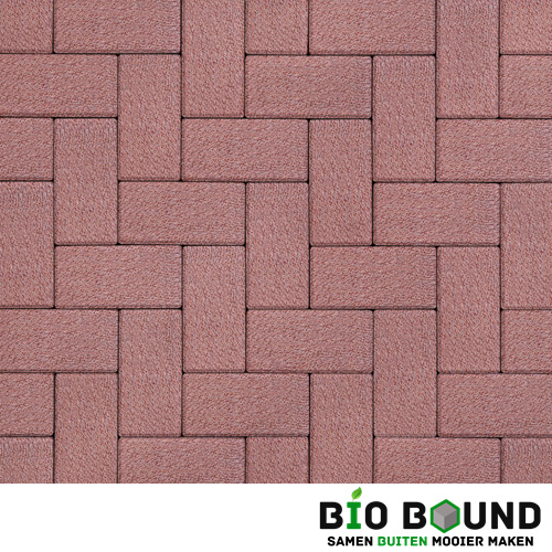 Circulaire biobased betonstraatsteen WGS bilbao rood
