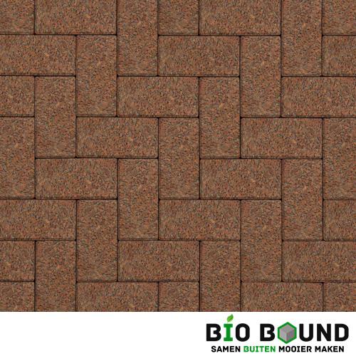 Circulaire biobased betonstraatsteen WGS gerona rood 2-5