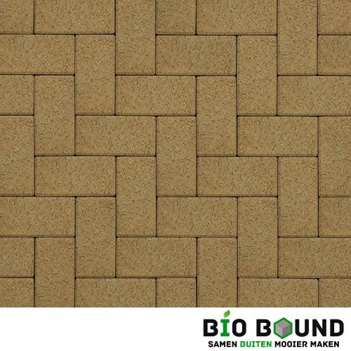 Circulaire biobased betonstraatsteen WGS luxorgeel