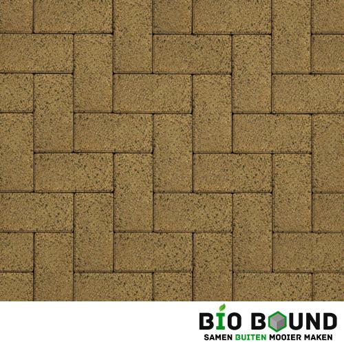 Circulaire biobased betonstraatsteen WGS merida geel