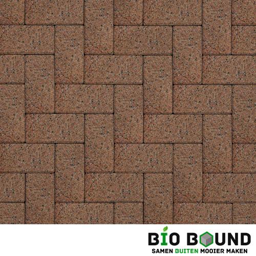 Circulaire biobased betonstraatsteen WGS oviedo rood