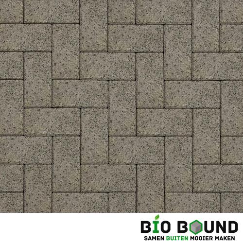 Circulaire biobased betonstraatsteen WGS segovia grijs witte cement