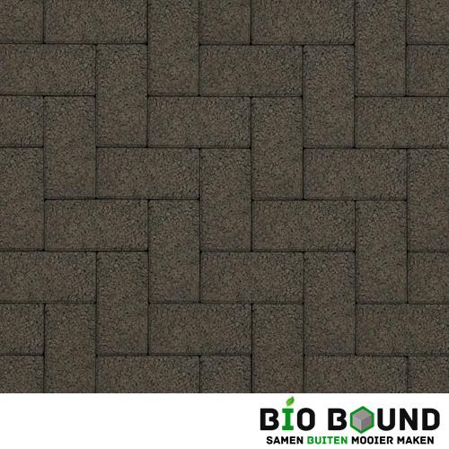Circulaire biobased betonstraatsteen structuur basalt