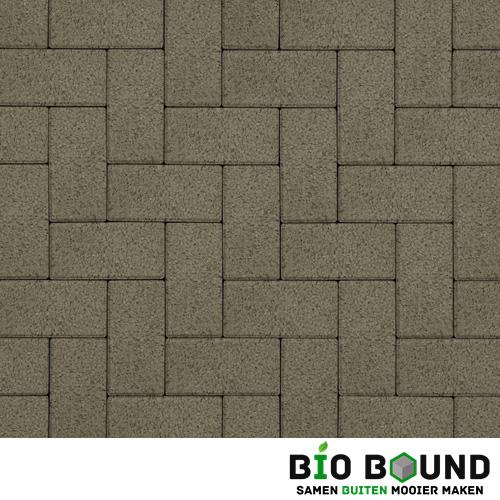 Circulaire biobased betonstraatsteen structuur grijs porfier
