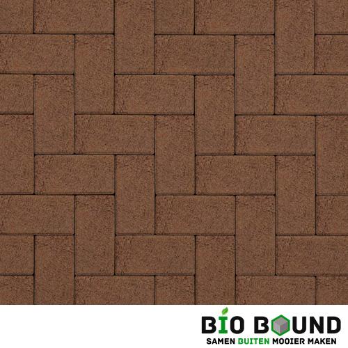 Circulaire biobased betonstraatsteen structuur oud bruin