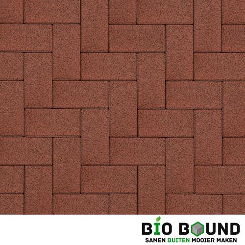 Circulaire biobased betonstraatsteen structuur schotsgraniet