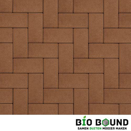 Circulaire biobased betonstraatsteen terracotta