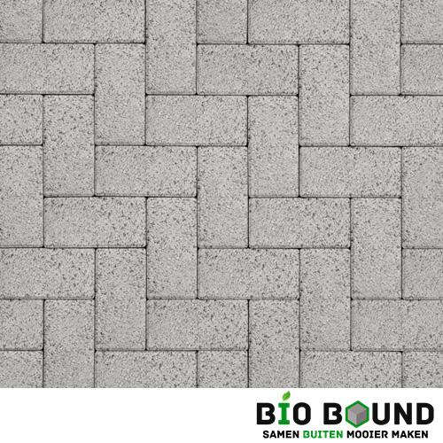 Circulaire biobased betonstraatsteen wit