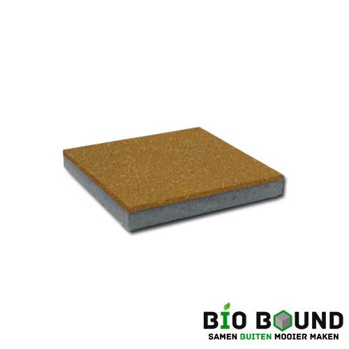 circulaire, biobased betontegel geel