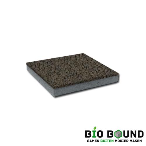 circulaire, biobased betontegel structuur basalt