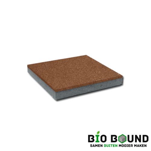 circulaire, biobased betontegel terracotta