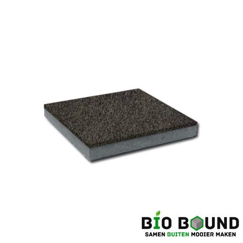 circulaire, biobased betontegel watergestraald basalt 1-3 glanskies