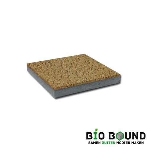 circulaire, biobased betontegel watergestraald luxorgeel
