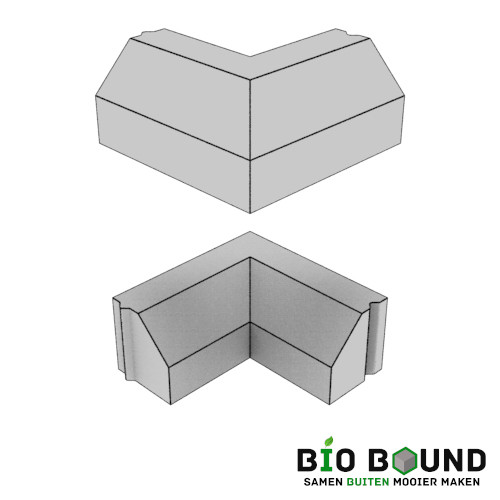 Circulaire, biobased RWS hoekstukken 90º