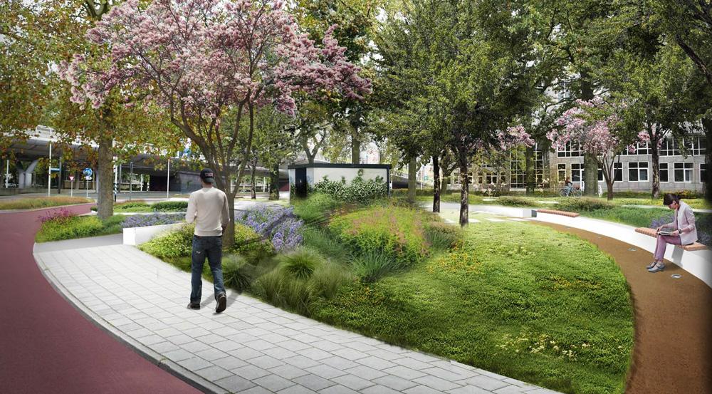 Circulaire, biobased banken voor herinneringsmonument tramaanslag Utrecht
