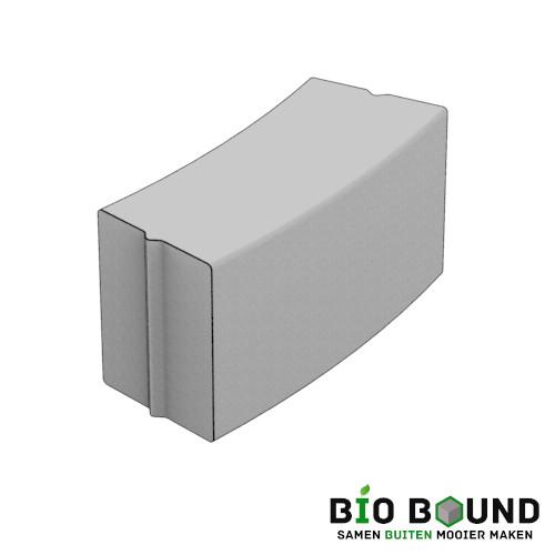 Parkband bloembakband bochtband 40 x 50 cm biobased circulair beton