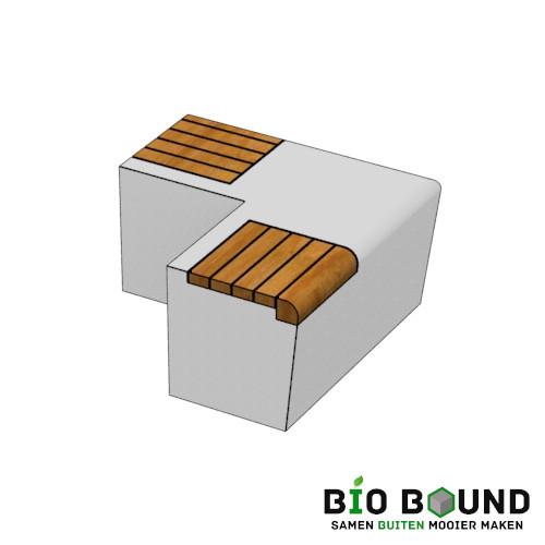 Parkband zitrand bank Elegance basis hoek met zitting biobased circulair beton