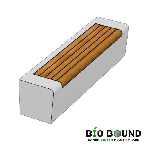 parkband/zitrand Elegance basis solo met houten zitting biobased | circulair