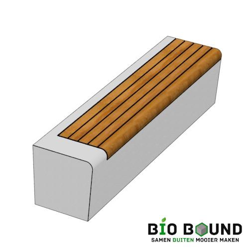 Parkband zitrand bank Elegance basis met zitting rechts links biobased circulair beton