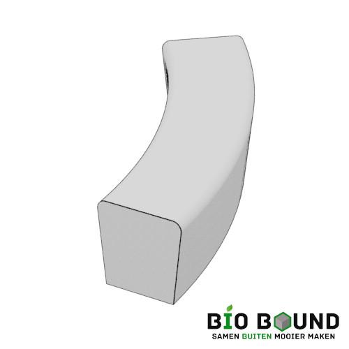 parkband zitrand bank Elegance tweezijdig bocht biobased circulair beton
