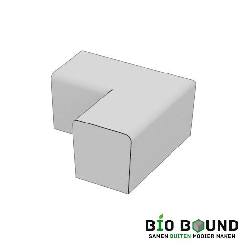 parkband zitrand bank Elegance tweezijdig hoek biobased circulair beton