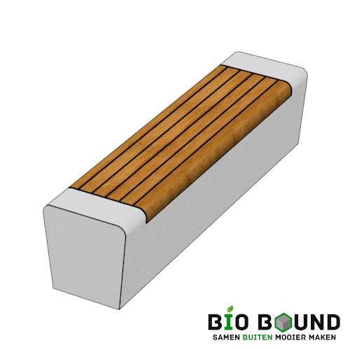 parkband zitrand bank Elegance tweezijdig solo biobased circulair beton