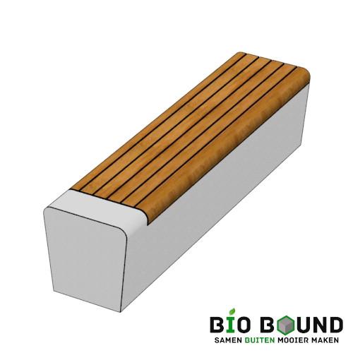 parkband zitrand bank elegance tweezijdig met zitting biobased circulair beton