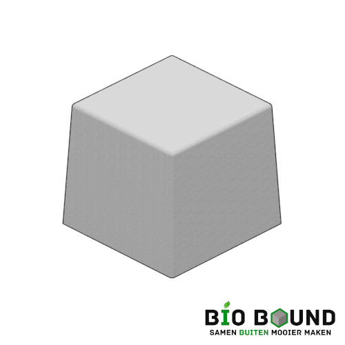 Circulaire biobased siercarre vierkant 60 duurzaam beton
